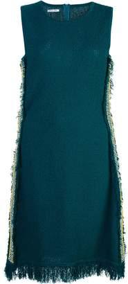 Oscar de la Renta sleeveless fringe dress