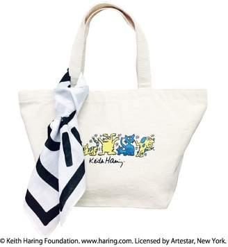 Keith Haring RiNc 【 キースヘリング】Animals バンダナ付きランチバッグ