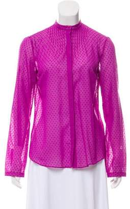 Akris Textured Button-Up Top