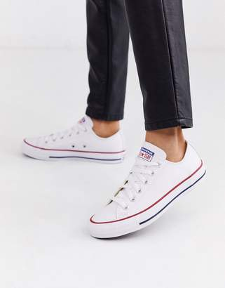 Converse Chuck Taylor All Star Ox white leather sneakers