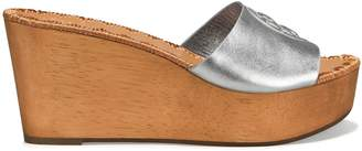 Tory Burch PATTY METALLIC HEELED WEDGE SLIDE