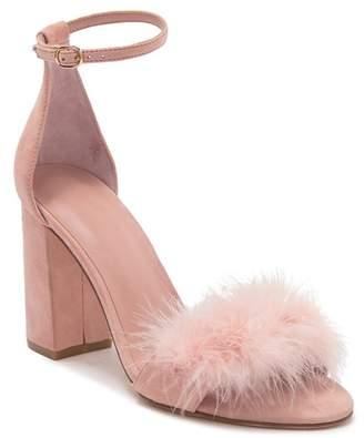 8d9cf4a290d6 Joie ADHRA Feather Embossed Block Heel Sandal