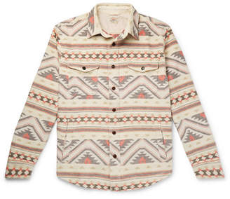 Faherty Durango Organic Brushed Cotton-Jacquard Shirt Jacket - Men - Cream