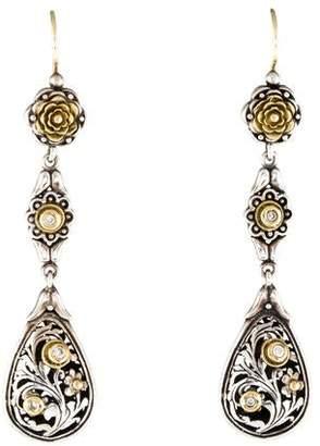 Konstantino Diamond Floral Drop Earrings