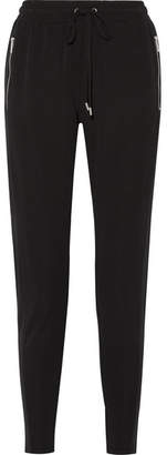 MICHAEL Michael Kors Stretch-jersey Track Pants - Black