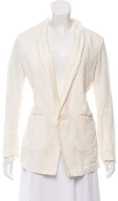Pas De Calais Shawl-Lapel Button-Up Blazer