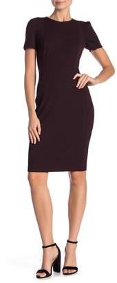 Modern American Designer Patterned Short Sleeve Sheath Dress