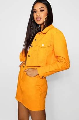 boohoo Tangerine Denim Jacket