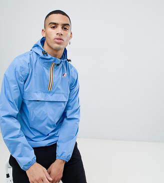 K-Way K Way Le Vrai 3.0 Leon pullover waterproof jacket in blue