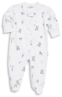 Kissy Kissy Baby Boy's First Down Football Print Cotton Footie $44 thestylecure.com