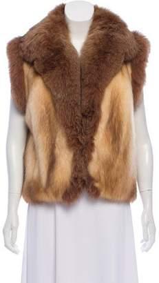 Dolce & Gabbana Sable Fox trim Fur Vest