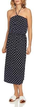 1 STATE 1.STATE Printed Halter Midi Dress