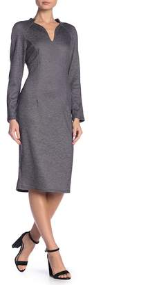 AERIN Stretch Knit Stand Collar Dress