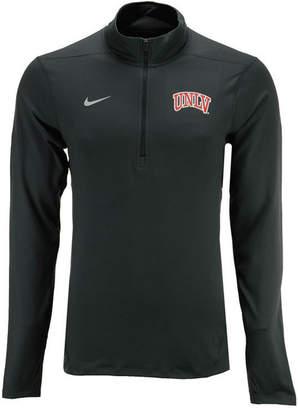 Nike Men's Unlv Runnin Rebels Solid Dri-fit Element Quarter-Zip Pullover