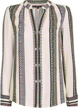 Derek Lam Kara Striped Silk Crepe Blouse