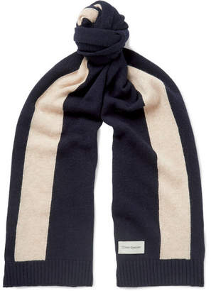 Oliver Spencer Arbury Striped Wool Scarf