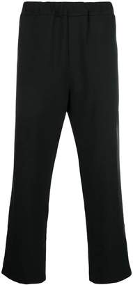 Oamc elastic waist cropped trousers