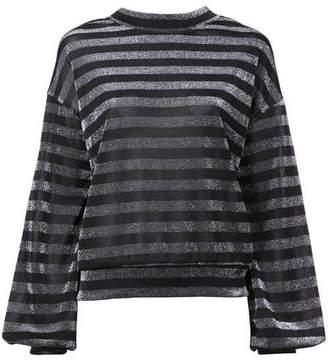 RtA Striped Lurex Sweatshirt