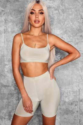 boohoo Tamsin Strappy Slinky Crop Top