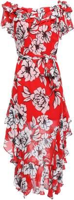 Marissa Webb Sofia Ruffled Floral-print Silk-gauze Midi Dress