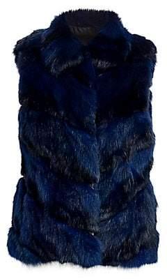 The Fur Salon Women's Sable Fur Sections Vest