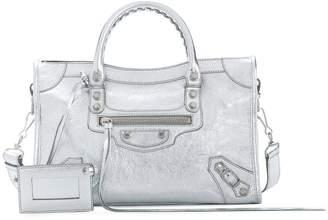 Balenciaga silver Classic City Small leather tote bag