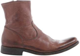 Y's Brown Leather Ankle boots