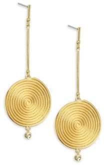 Lainey Spiral Topaz Drop Earrings
