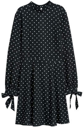 H&M Dress with Stand-up Collar - Black