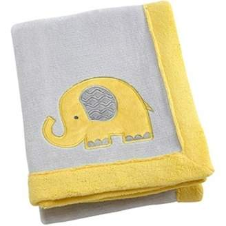 NoJo Little Bedding by Elephant Time Applique Coral Blanket, Yellow by