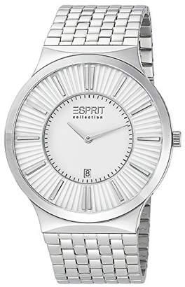 Esprit Leodor Silver Men's Quartz Watch with White Dial Analogue Display and Silver Steel Bracelet EL101381 °F06