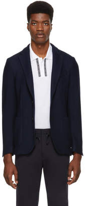 BOSS Navy Knit Blazer
