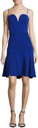 Milly Kelly Sweetheart Fit-&-Flare Dress, Cobalt