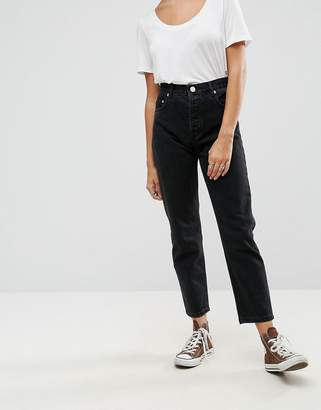 Asos DESIGN Florence authentic straight leg jeans in washed black