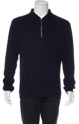 John Varvatos Rib Knit Point Collar Shirt