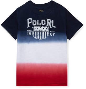 Ralph Lauren Ombre Short-Sleeve Logo T-Shirt, Size 2-4