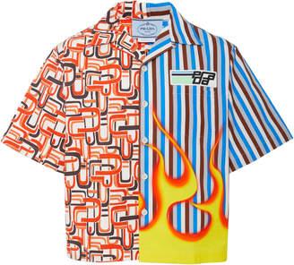 Prada Retro Printed Cotton-Poplin Shirt