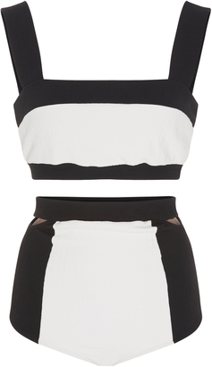 Adriana Degreas Two-Tone Bikini Set