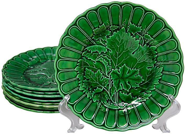 One Kings Lane Vintage 19th-C. Clairfontaine Plates - Set of 9 - Portfolio No.6