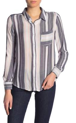 Abound Weekend Patterned Button Front Shirt