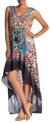 Shahida Parides Patterned High/Low Maxi Dress