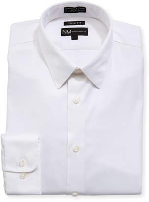 Neiman Marcus Trim-Fit Non-Iron Royal Oxford Shirt