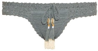 She Made Me Essential Hipster Crochet Bikini Briefs - Womens - Blue