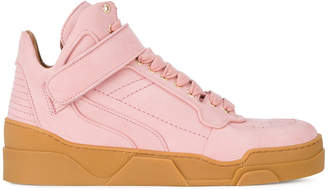 Givenchy Pink Suede Tyson mid top sneakers