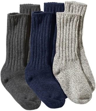 """L.L. Bean L.L.Bean Women's Wool Ragg Sock Gift Set, 10"""" Three-Pack"""