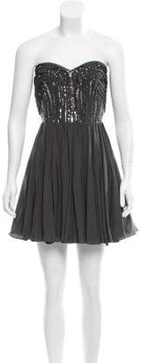 Rebecca Taylor Strapless Sequin-Accented Dress w/ Tags