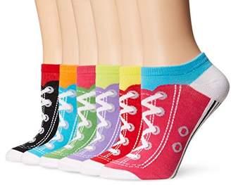 K. Bell Sport Women's Sneaker Low Cut No Show Socks 6-pack,One Size