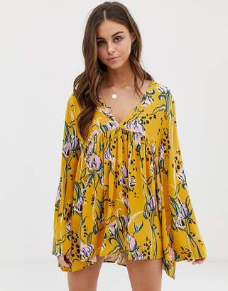 Free People Bella floral print swing dress