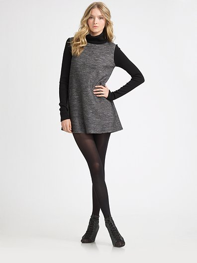 Theory Jacquard Turtleneck Dress
