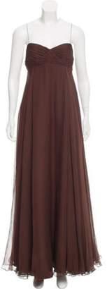 J. Mendel Sleeveless Evening Dress Brown Sleeveless Evening Dress